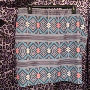 Tribal bodicon skirt
